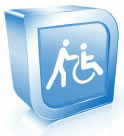 An icon shows a figure pushing another figure seated in a wheelchair.