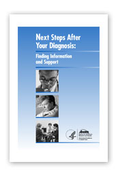 cover of publication Next Steps After Your Diagnosis: Finding Information and Support
