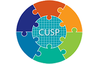 CUSP Logo of different colored puzzle pieces