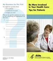 (Cover Image) Be More Involved in Your Health Care