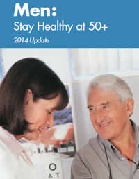Cover of Men: Stay Healthy at 50+ brochure