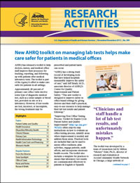 Cover of November-December 2013 Research Activities