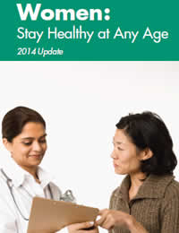 Cover of Women: Stay Healthy at Any Age brochure