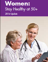 Cover of Women: Stay Healthy at 50+ brochure