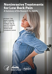 Consumer Guide - Noninvasive Treatments for Low Back Pain