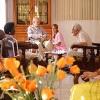 Nursing home residents talking