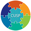 CUSP logo of interlocking puzzle pieces.