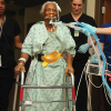 a patient receives assistance with walking