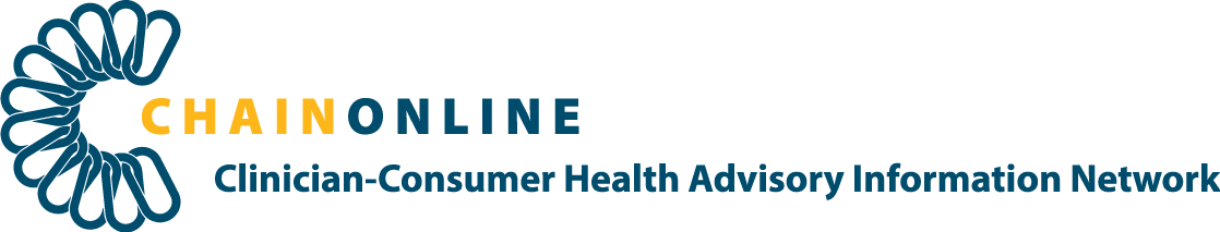 CHAINONLINE: Clinician-Consumer Health Advisory Information Network Logo