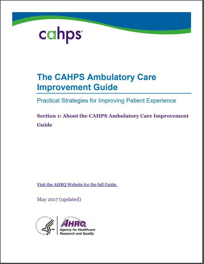 cover of Section 1: About the CAHPS Ambulatory Care Improvement Guide