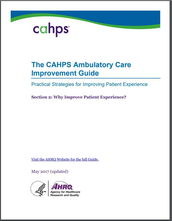 cover of Section 2: Why Improve Patient Experience?