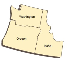 The States of Washington, Oregon, and Idaho.