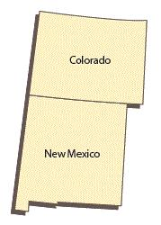 The States of Colorado and New Mexico.