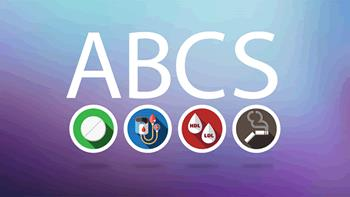 ABCS stands for asprin, blood pressure, cholesterol, and smoking.