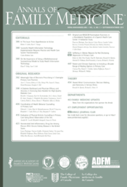 Annals of Family Medicine journal cover