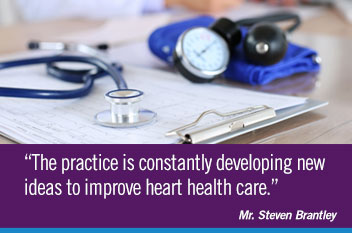 The practice is constantly developing new ideas to improve heart health care.