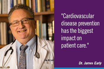 Cardiovascular disease prevention has the biggest impact on patient care.