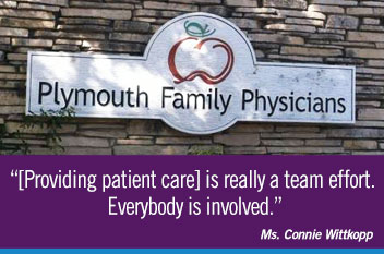 [Providing patient care] is really a team effort. Everybody is involved.