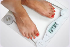 Image of person on weighing machine