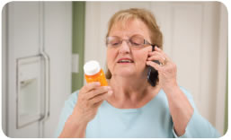 Image of person receiving medication coaching by phone