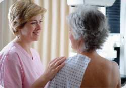 Biennial screening mammography for women over age 65.