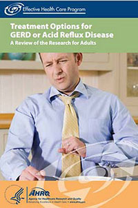 Cover of the consumer summary Treatment Options for GERD or Acid Reflux Disease.