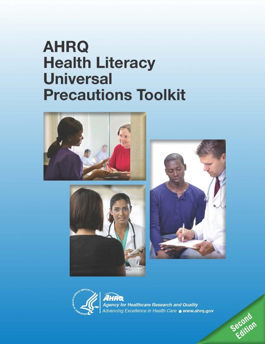 The cover of the AHRQ Health Literacy Universal Precautions Toolkit