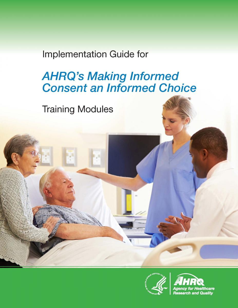 cover of the Implementation Guide for AHRQ's Making Informed Consent an Informed Choice