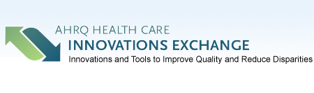 The logo of the AHRQ Health Care Innovations Exchange with the motto