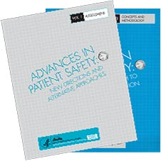 The covers to two Advances in Patient Safety volumes.