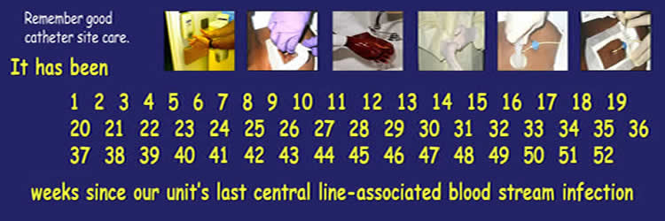 Image of first part of CLASI Banner which can be used to indicate the number of weeks since a unit's last CLABSI.