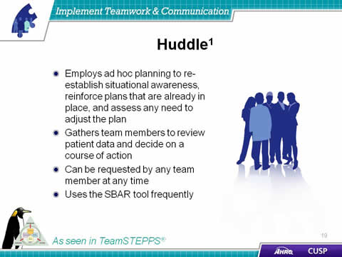 teamwork in health care The effective communication of information and coordination of team activities is essential to providing safe patient care.