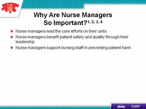 Cusp Toolkit The Role Of The Nurse Manager Facilitator
