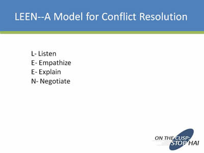 Conflict resolution research