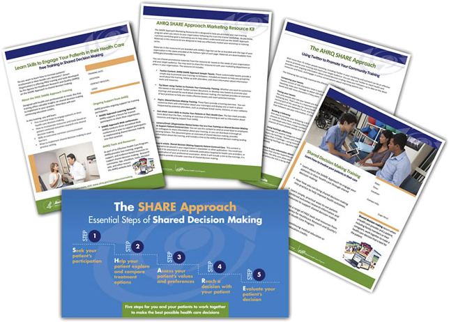 5 sample pages from SHARE Approach Marketing Toolkit