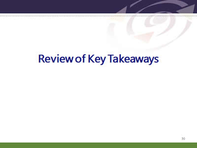 Slide 50: Review of Key Takeaways.Review of Key Takeaways.