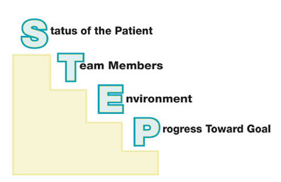 Components of Situation Monitoring: Status of the patient, Team members, Environment, and Progress toward goal.