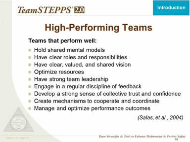 High-Performing Teams