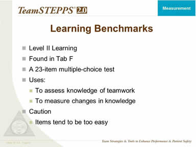 Learning Benchmarks