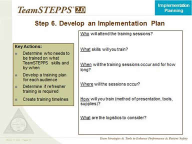 Step 6. Develop An Implementation Plan