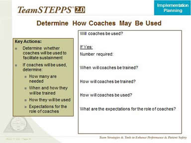 Determine How Coaches May Be Used