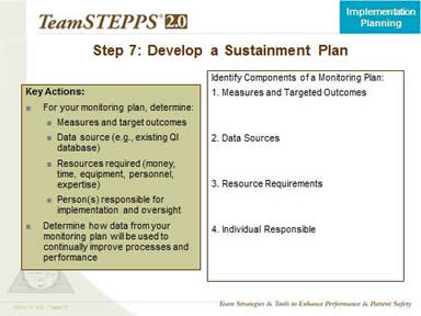 Step 7. Develop A Sustainment Plan