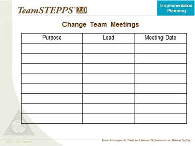 Change Team Meetings