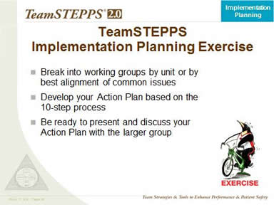 Exercise: Implementation Planning