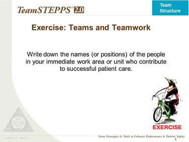 Exercise: Teams and Teamwork