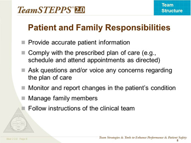 Patient and Family Responsibilities