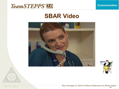 SBAR Video Example