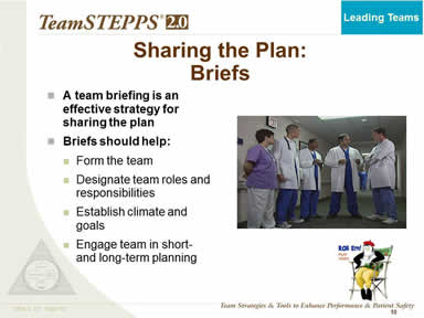 Sharing the Plan:Briefs