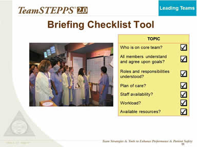 Briefing Checklist Tool