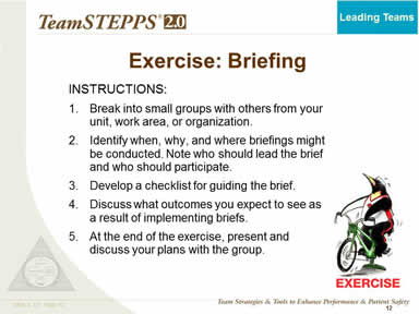 Exercise: Briefing